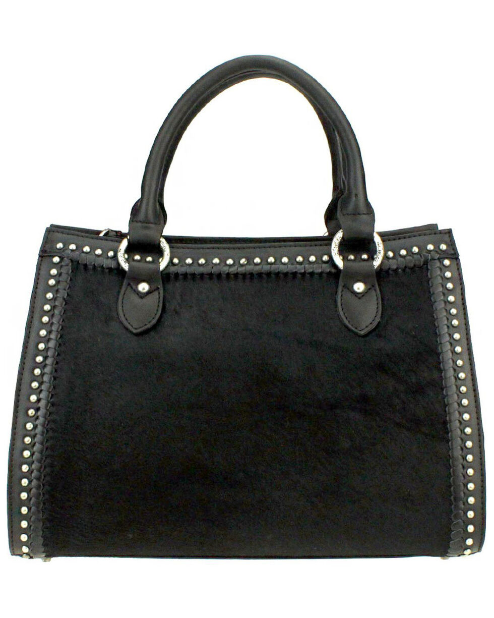 Montana West Delila Satchel 100% Genuine Leather Hair-On Hide Collection, , hi-res