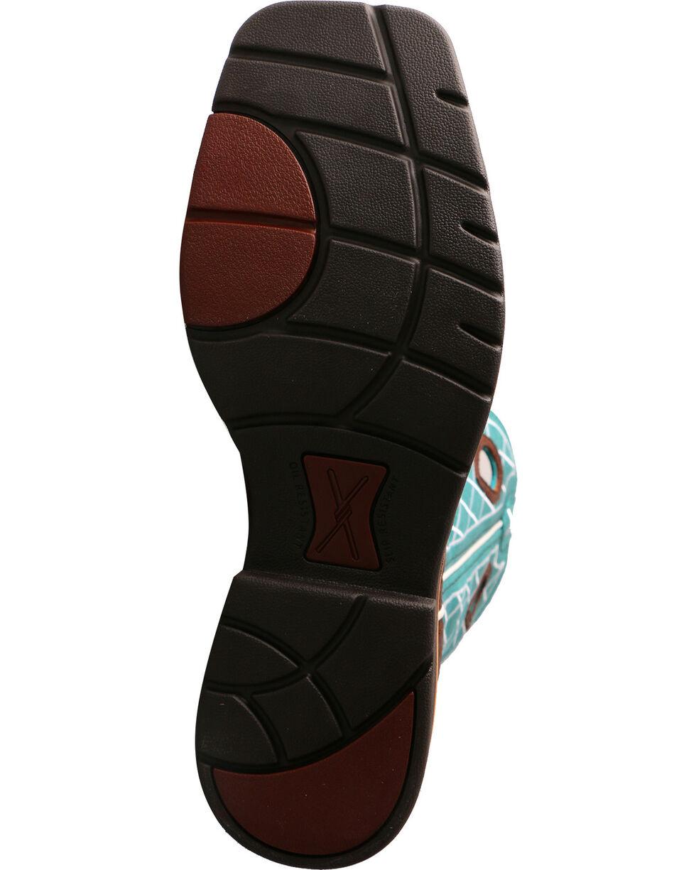 Twisted X Men's Lite Cowboy Work Boots - Soft Toe, Brown, hi-res