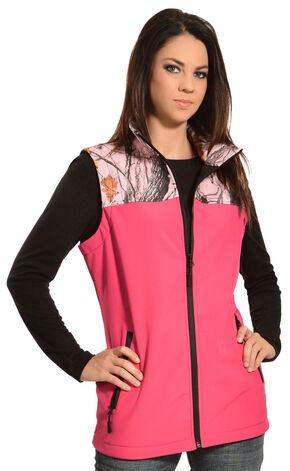 Red Ranch Hot Pink Camo Bonded Vest , Black, hi-res