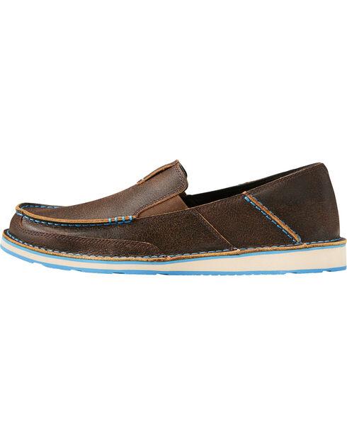 Ariat Men's Cruiser Leather Slip On Shoes - Moc Toe, Dark Brown, hi-res