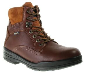 "Wolverine Men's 6"" Durashocks Lace-Up Boots - Round Toe, Brown, hi-res"