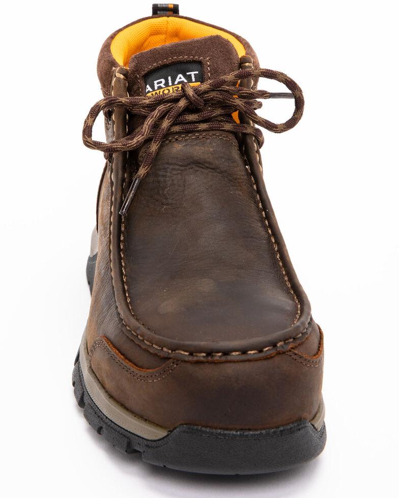 Ariat Men's Brown Waterproof Edge LTE Moc Boots - Composite Toe , Dark Brown, hi-res
