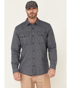 Hawx Men's Greyline Solid Stretch Herringbone Long Sleeve Work Shirt , Navy, hi-res