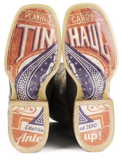 Tin Haul Men's Black Jack Cowboy Boots - Square Toe, Brown, hi-res