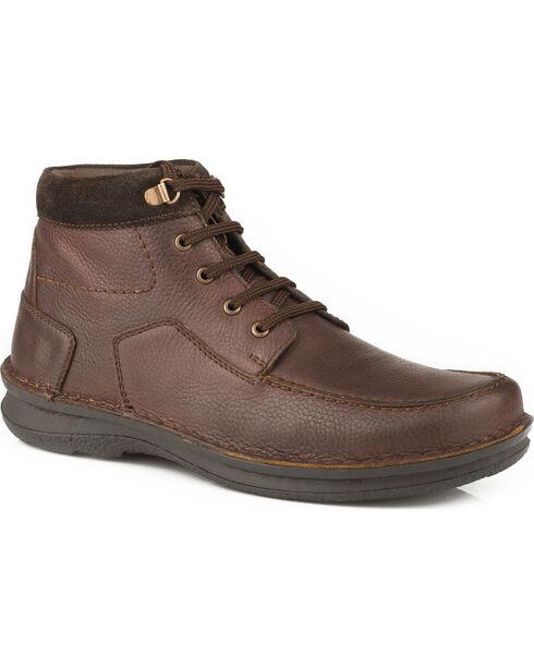 Roper Men's Brown Trevor Suede Collar Shoes , Brown, hi-res