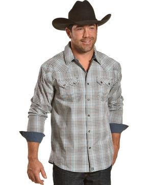 Moonshine Spirit Men's Rincon Creek Plaid Long Sleeve Western Shirt, Turquoise, hi-res