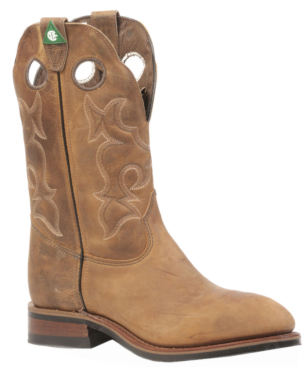 Boulet Men's Hillbilly Golden Western Work Boots - Steel Toe, Tan, hi-res