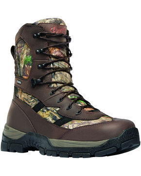 "Danner Men's Mossy Oak Alsea 8"" Lace Up Waterproof 1000G Insulated Boots - Round Toe, Camouflage, hi-res"