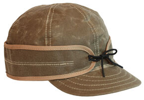 Stormy Kromer Men's Tan Waxed Cotton Cap, Tan, hi-res