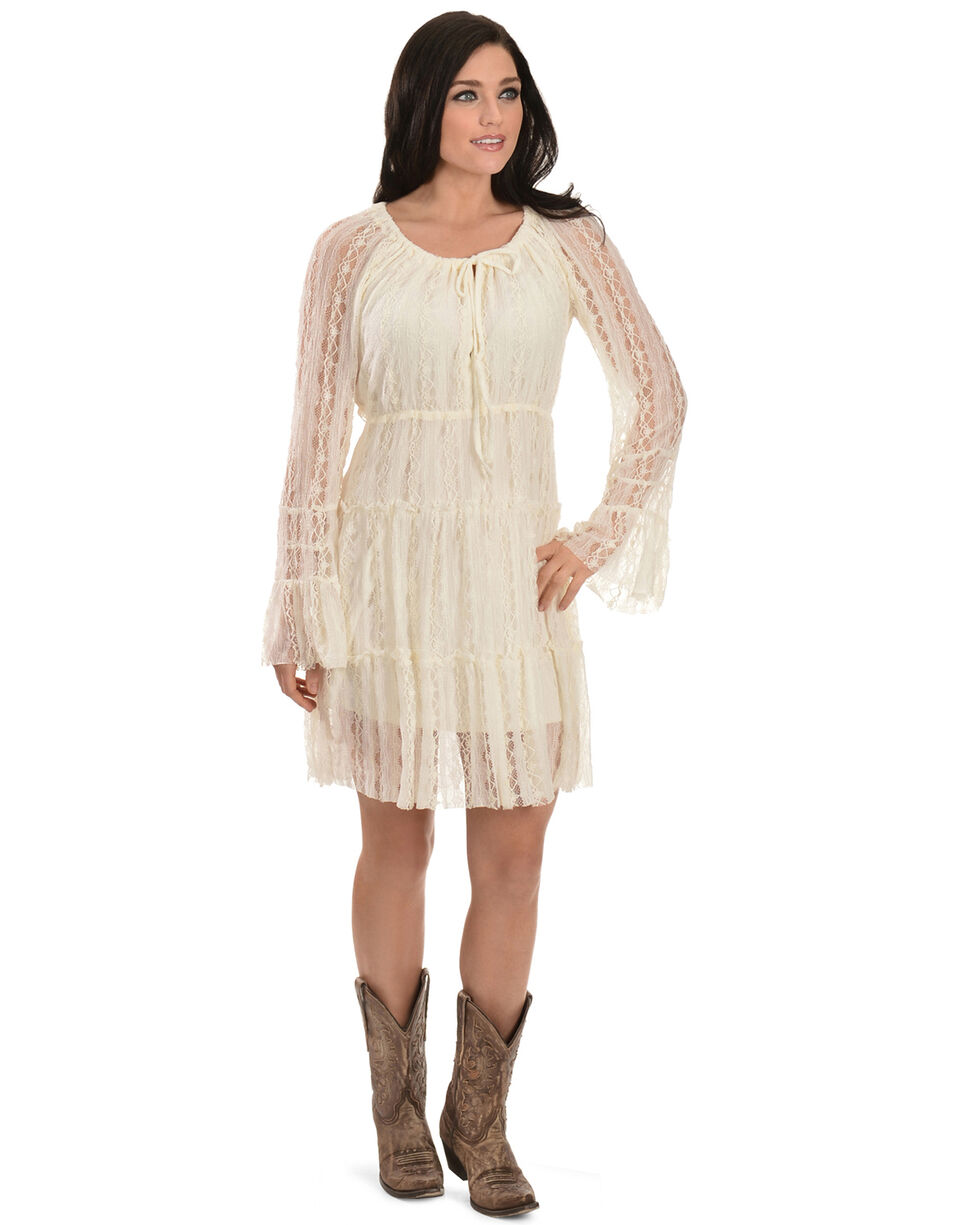 Scully Lace Dress, Ivory, hi-res