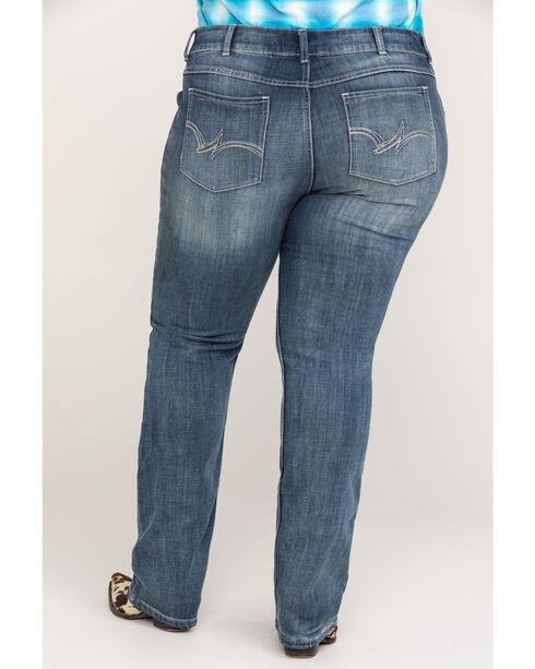 Wrangler Women's Indigo Straight Leg Mid-Rise Jeans - Plus Size , Indigo, hi-res