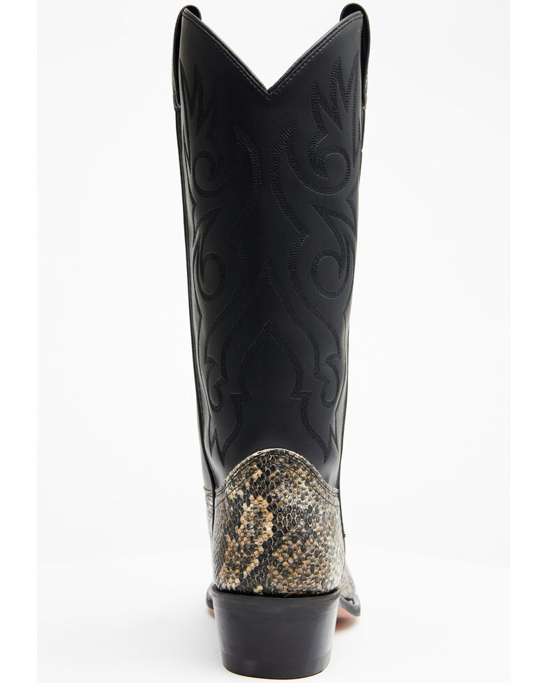 Old West Men's Snake Printed Western Boots - Round Toe, Natural, hi-res