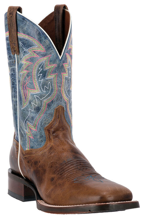Dan Post Blue Lava Teton Cowboy Boots - Square Toe, Tan, hi-res