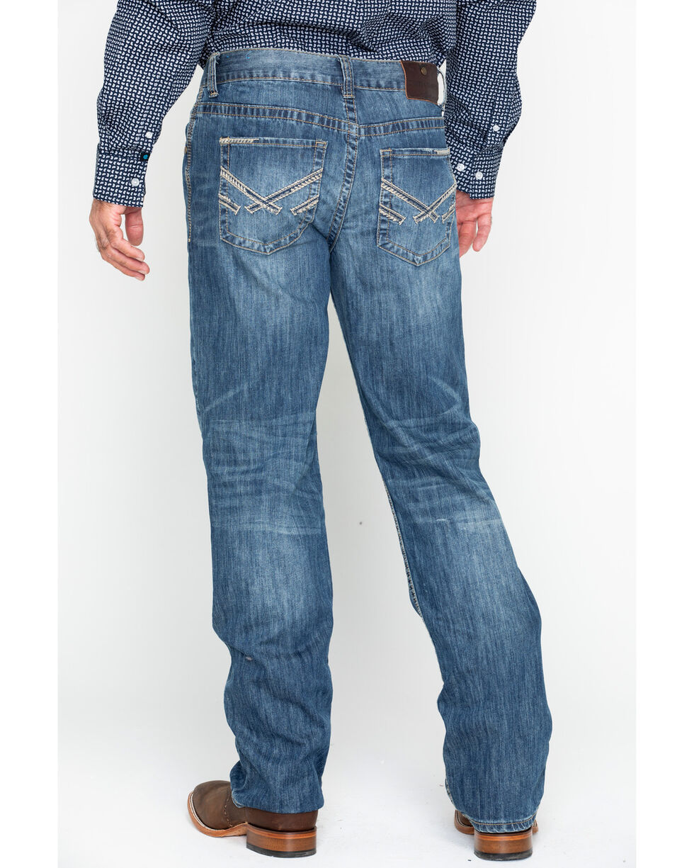 Cody James Men's Relaxed Medium Wash Jeans - Boot Cut, Blue, hi-res