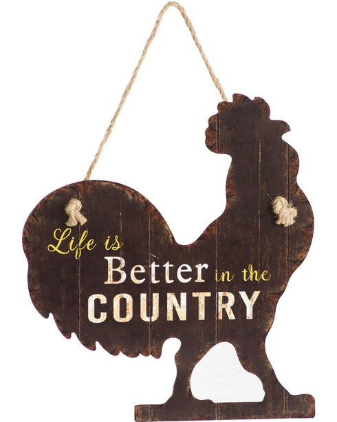 BB Ranch Life Is Better In The Country Wall Sign, Brown, hi-res