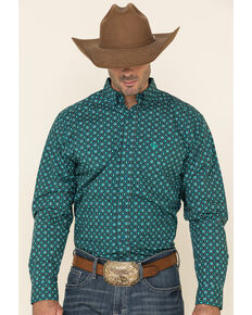 Ariat Men's Ohara Geo Print Fitted Long Sleeve Western Shirt , Multi, hi-res