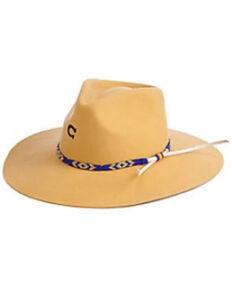 Charlie 1 Horse Women's Gypsy Mustard Aztec Band Felt Western Hat , Mustard, hi-res