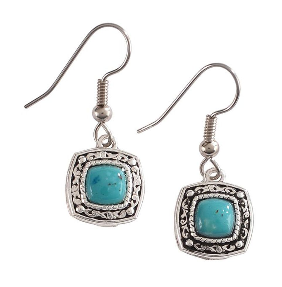 Montana Silversmiths Blue Earth Drop Earrings, Silver, hi-res