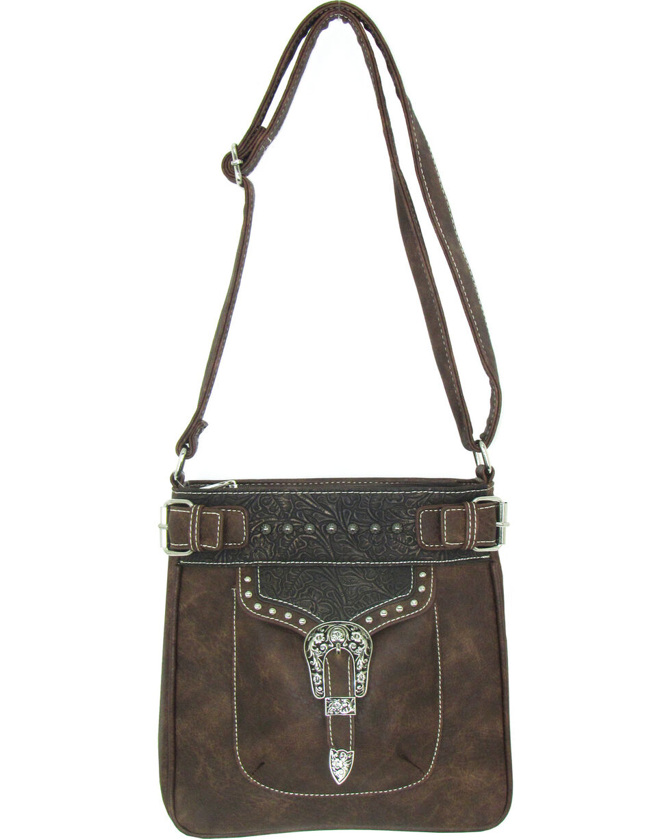 Savana Women's Faux Leather Tote Messenger Bag , , hi-res