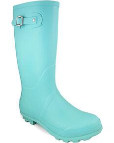 Smoky Mountain Women's Turquoise Rain Boots - Round Toe , Turquoise, hi-res