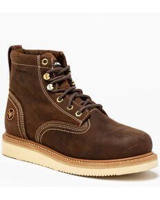 "Hawx® Men's 6"" Lacer Work Boots - Composite Toe, Brown, hi-res"