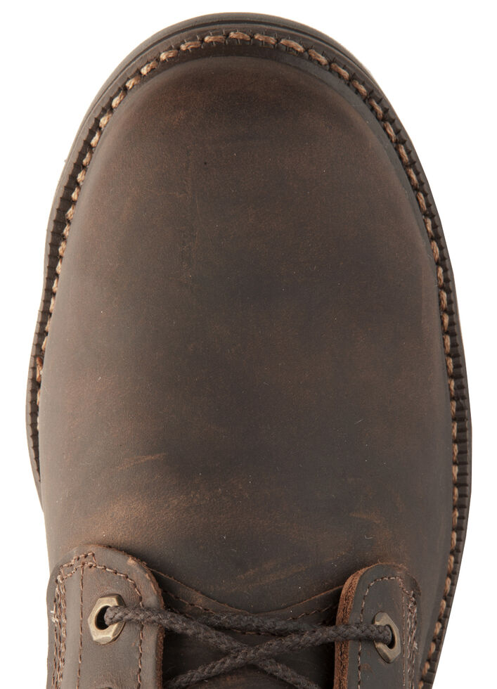 """Justin Men's J-Max 8"""" Balusters Rugged Bay EH Lace-Up Work Boots - Steel Toe, Brown, hi-res"""