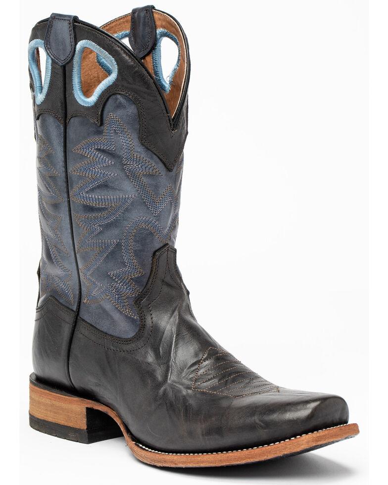 Cody James Men's Macho Talon Western Boots - Narrow Square Toe, Black/blue, hi-res
