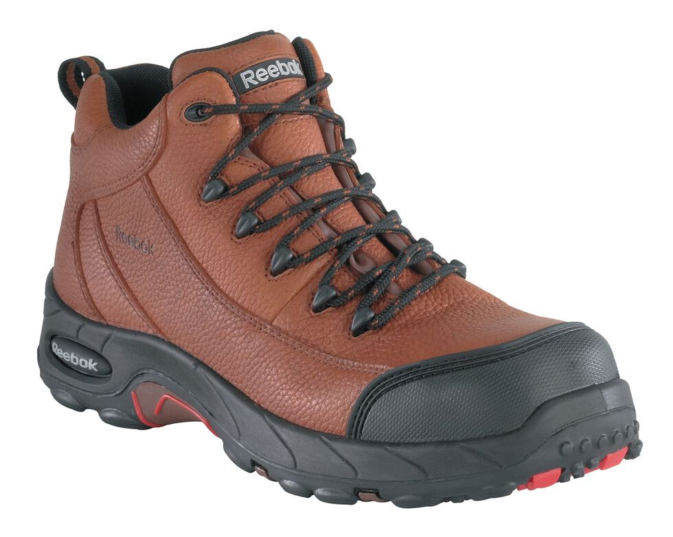 Reebok Women's Tiahawk Waterproof Sport Hiking Boots - Composite Toe, Brown, hi-res