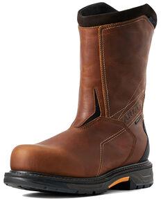 Ariat Men's Waterproof Workhog Western Work Boots - Carbon Safety Toe, Brown, hi-res