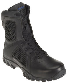 "Bates Men's Shock 8"" Work Boots - Soft Toe, Black, hi-res"