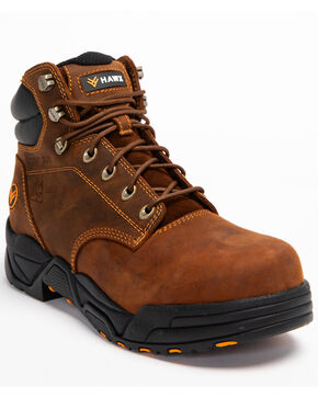 Hawx® Men's Brown Enforcer Lace-Up Work Boots - Composite Toe, Brown, hi-res