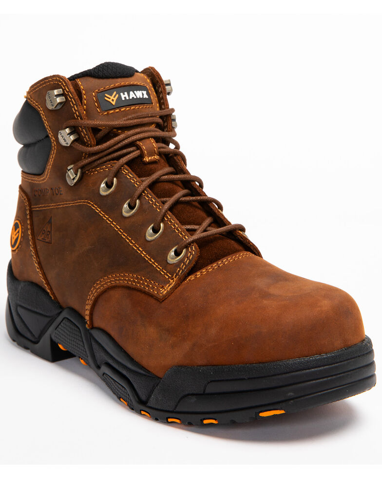 c7bdef297bfd42 Hawx® Men s Brown Enforcer Lace-Up Work Boots - Composite Toe