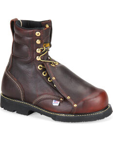 Carolina Men's Dark Brown Domestic MetGuard Boots - Broad Toe, Dark Brown, hi-res