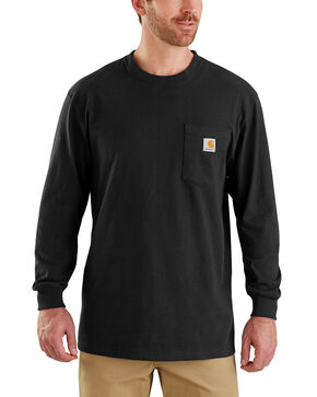 Carhartt Men's Black Workwear Hard Work Graphic T-Shirt , Black, hi-res
