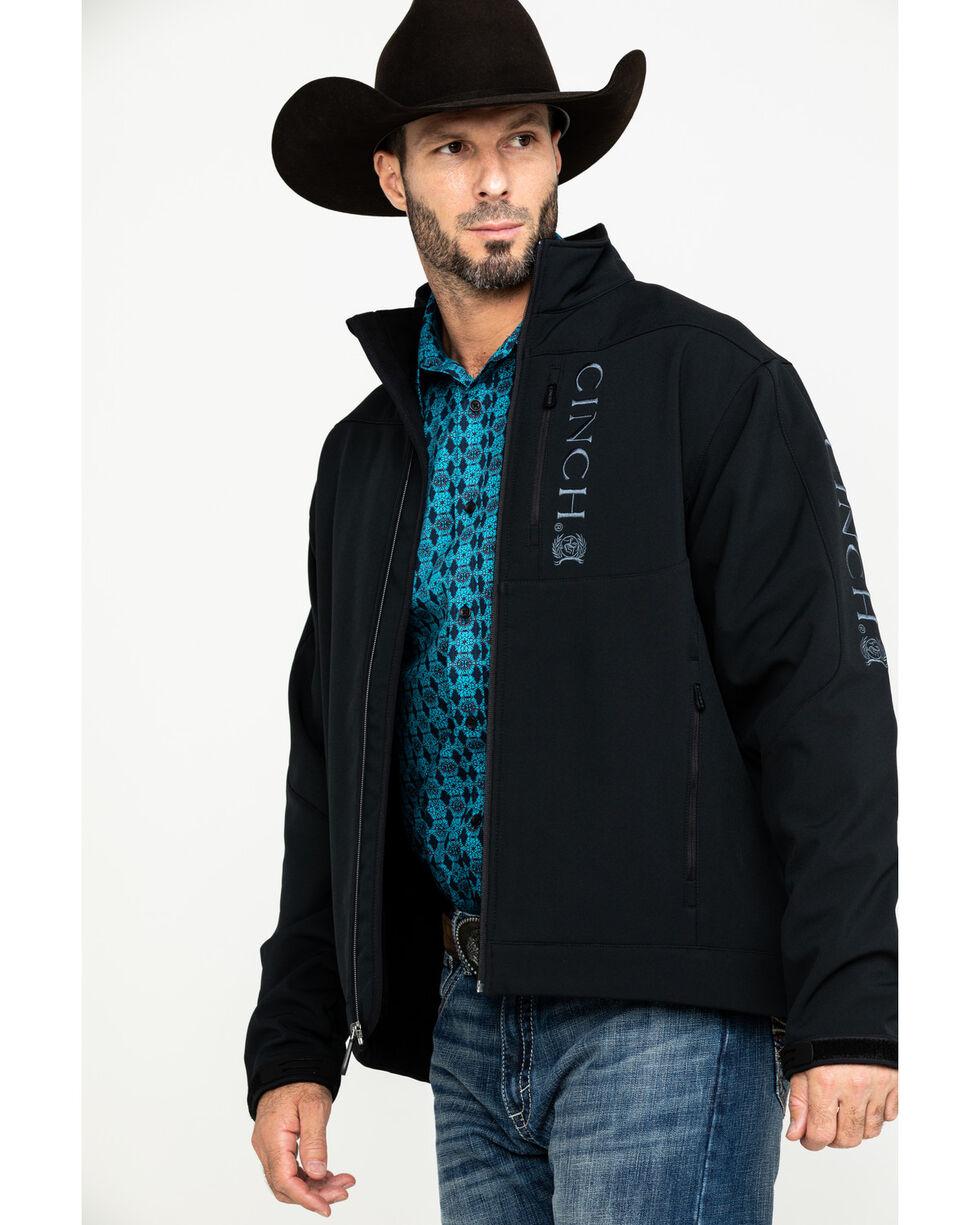 Cinch Men's Black Softshell Bonded Jacket, Black, hi-res