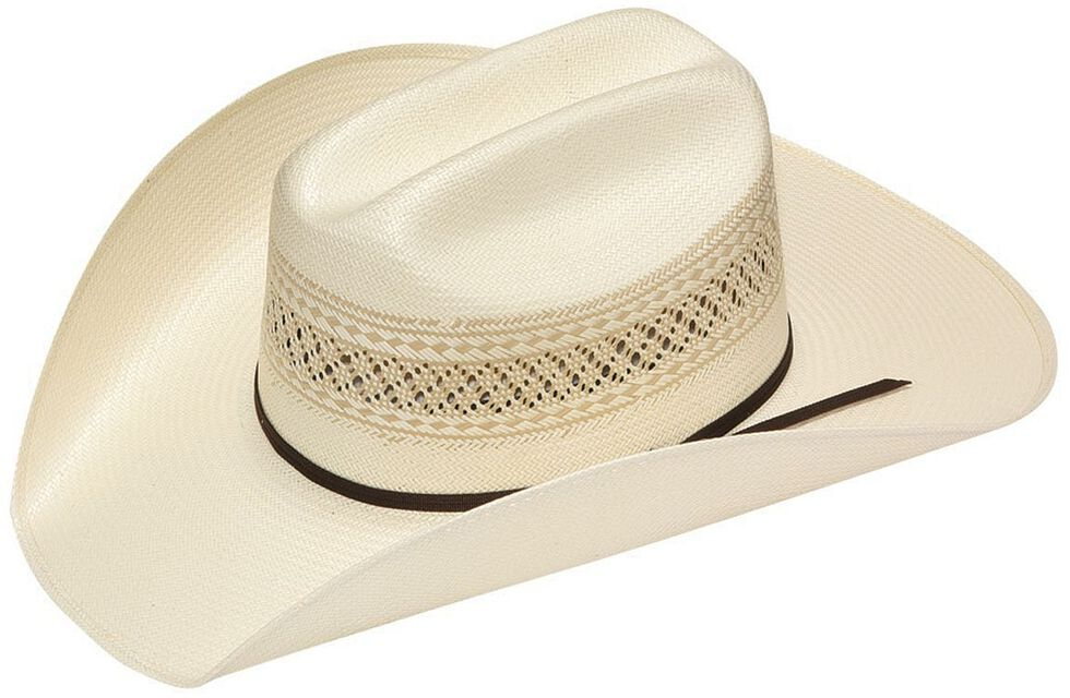 Twister 10X Shantung Double S Straw Cowboy Hat, Ivory, hi-res
