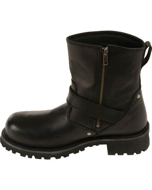 """Milwaukee Leather Men's 6"""" Classic Engineer Boots - Round Toe, Black, hi-res"""