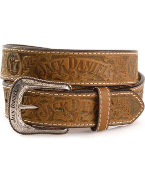 Jack Daniel's Embossed Leather Belt, Natural, hi-res