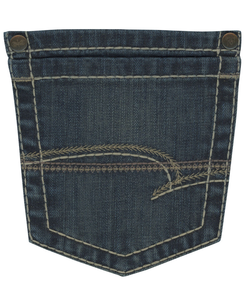 Rock 47 By Wrangler Men's Back Up Stretch Slim Straight Jeans , Blue, hi-res