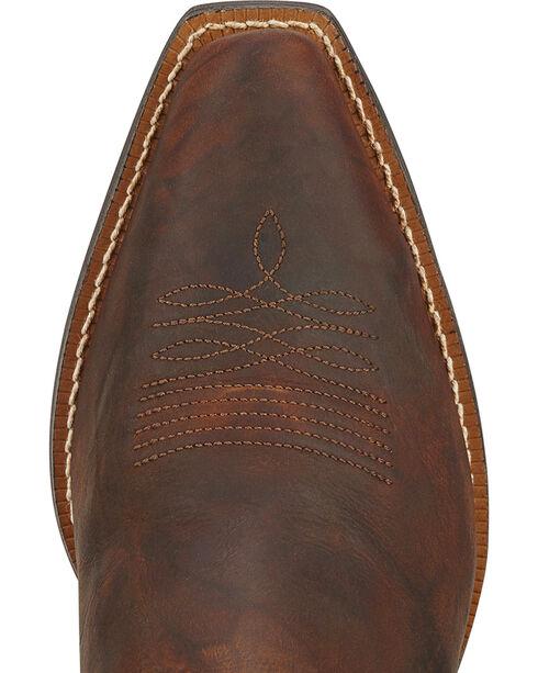 Ariat Fanfare Zippered Cowgirl Boots - Snip Toe, Mahogany, hi-res