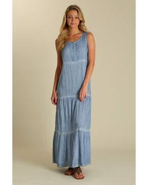 Wrangler Women's Indigo Sleeveless Dress , Indigo, hi-res