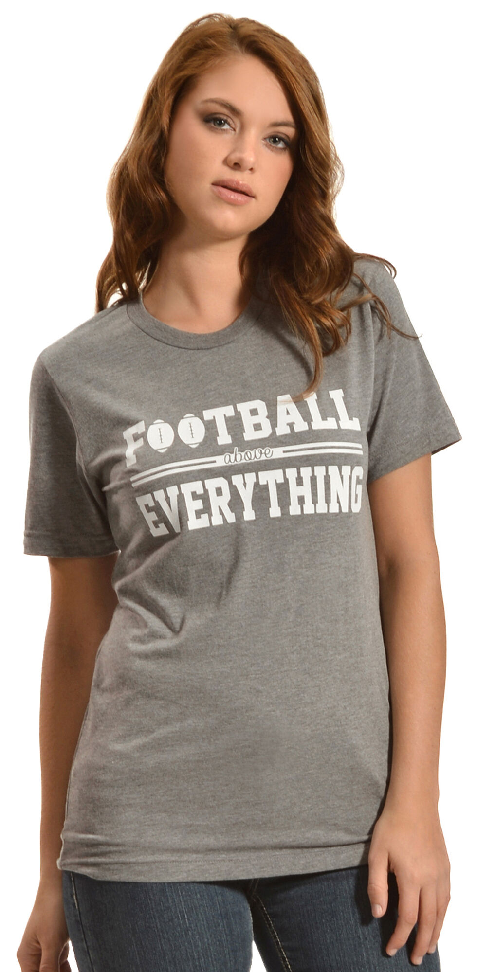 ATX Mafia Football Above Everything Tee, Grey, hi-res