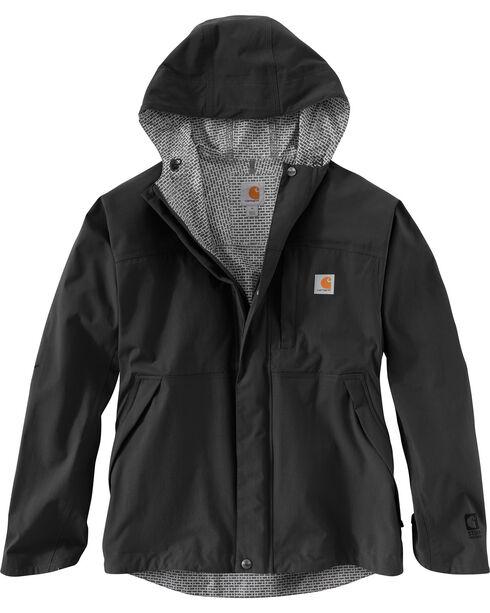Carhartt Men's Shoreline Vapor Waterproof Jacket - Big & Tall, Black, hi-res