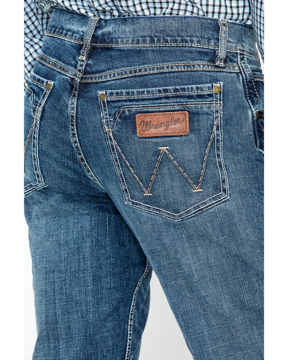 Wrangler Men's Layton Retro Slim Fit Boot Cut Jeans, Denim, hi-res