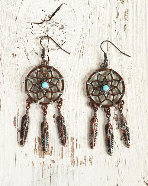 Shyanne Women's Dream Catcher Dangle Earrings, Turquoise, hi-res