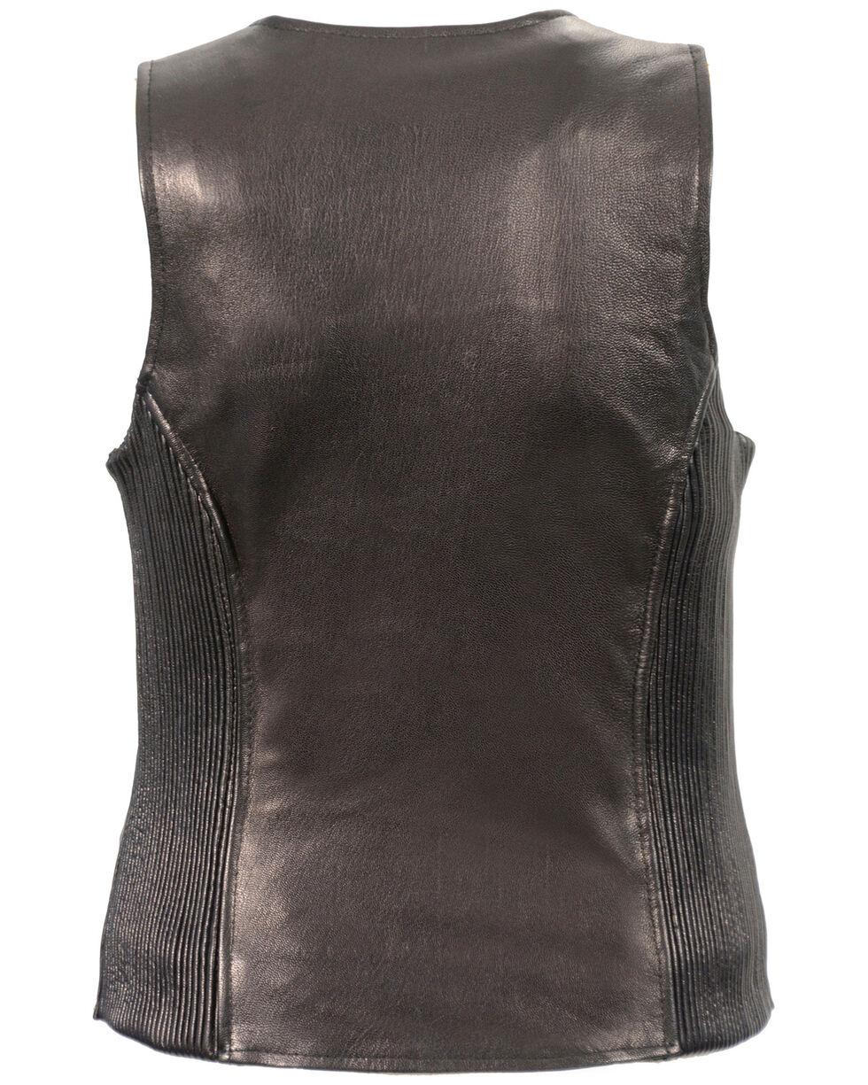 Milwaukee Leather Women's Black Lightweight Front Zipper Conceal Carry Vest - 5X , Black, hi-res
