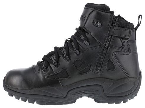 "Reebok Men's Stealth 6"" Lace-Up Work Boots - Soft Toe, Black, hi-res"