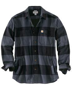 Carhartt Men's Rugged Flex Hamilton Fleece-Lined Shirt , Medium Blue, hi-res