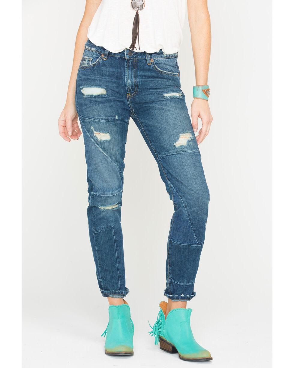 MM Vintage Women's Eve Boyfriend Straight Jeans , Indigo, hi-res