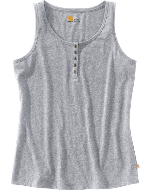 Carhartt Women's Lockhart Tank Top, Grey, hi-res